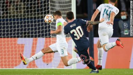 Messi scored Paris Saint-Germain's second goal against Manchester City.