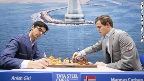 No.1-ranked Dutch chess player Anish Giri (left) says staying mentally agile is the key to becoming a grandmaster.