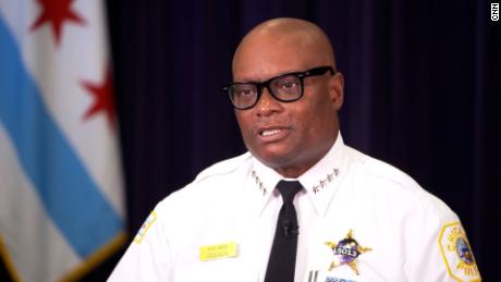 """Chicago Police Superintendent David Brown says """"violent people in possession of weapons"""" are responsible for uptick in shootings."""