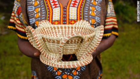 The baskets come in all shapes and sizes with unique patterns.