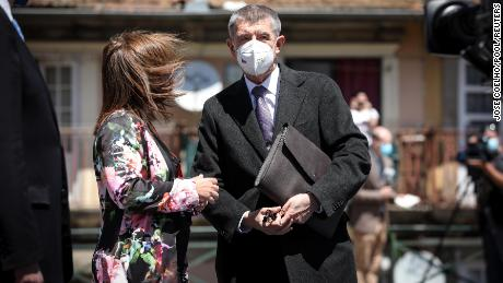 Czech Republic's Prime Minister Andrej Babis arrives to attend European Social Summit in Porto, Portugal, May 7, 2021.
