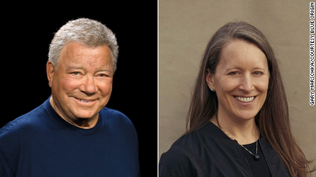 William Shatner and Audrey Powers.