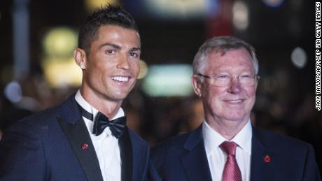 Ferguson (right) was influential in bringing Ronaldo back to Old Trafford.