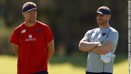 Darren Burgess, (left) currently with Melbourne Football Club, was previously a high performance coach at Arsenal and Liverpool.