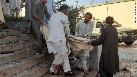 A suicide attacker was responsible for the blast in Kunduz.