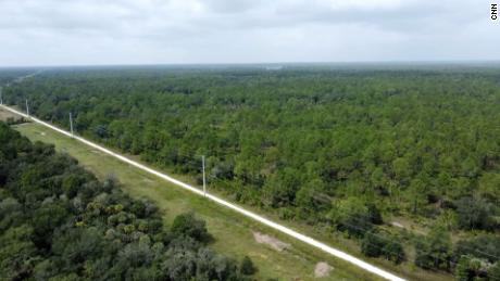 Drone footage shows the Carlton Reserve in Venice, Florida, on October 8, 2021.