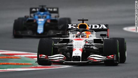 Max Verstappen finished second to take a six-point lead in the championship.