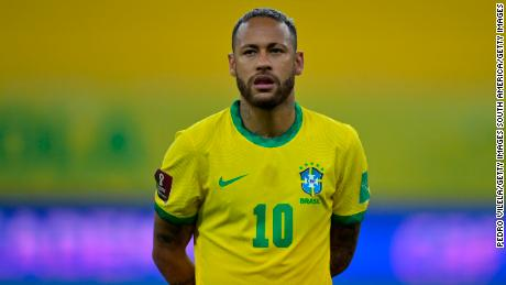 Neymar scored in Brazil's World Cup qualifying game against Peru last month.