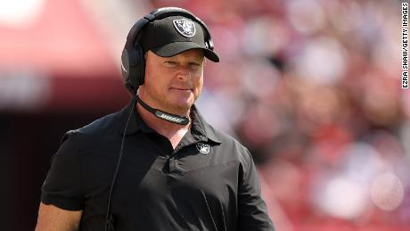 Jon Gruden has resigned as head coach of the Las Vegas Raiders.