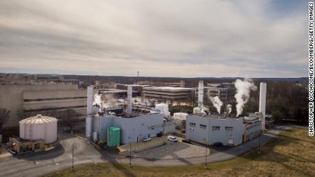 Merck headquarters in Kenilworth, New Jersey on January 25, 2021.