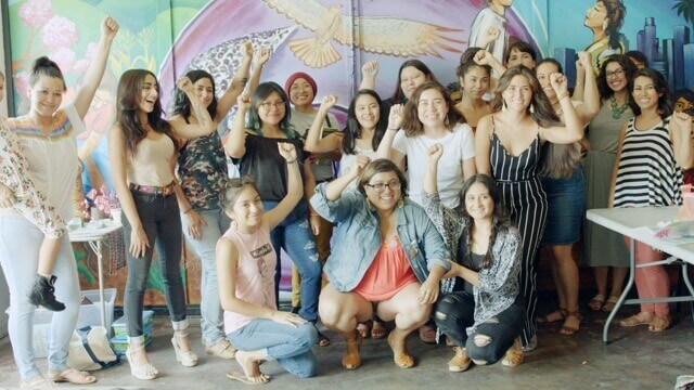Members and staff of the California Latinas for Reproductive Justice in Los Angeles, Calif.