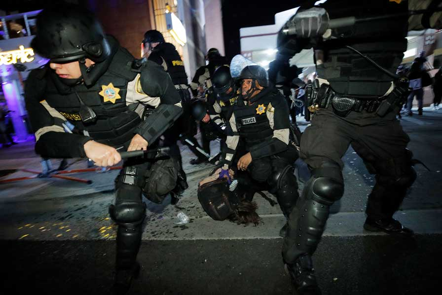 How American police gear up to respond to protests