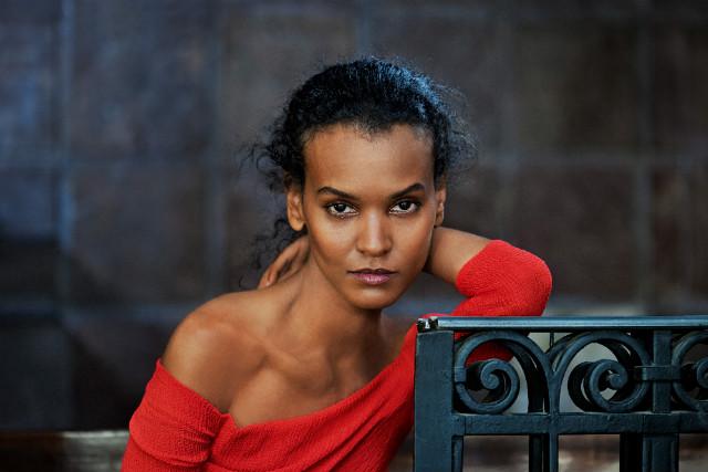 Steve McCurry photographed Ethiopian model Liya Kebede in Rio de Janeiro for the 2013 calendar. - (Steve McCurry for Pirelli)
