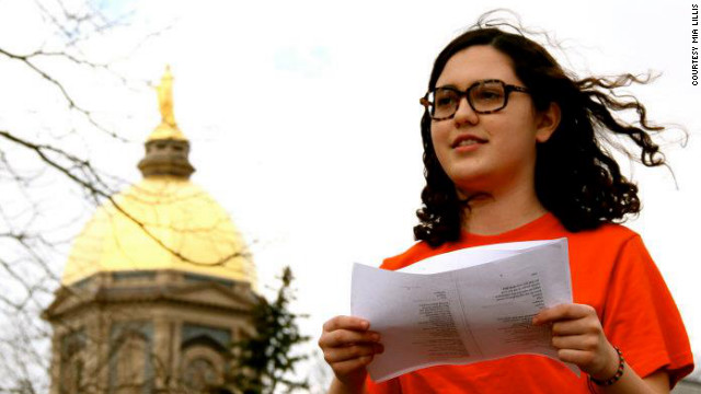 Mia Lillis says Notre Dame failed to provide a welcoming environment for gay students.
