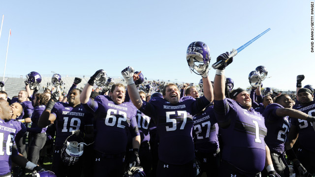 The Northwestern Wildcats earned the #1 ranking in the New America Foundation's 'Academic BCS,' based on the school's player graduation rates and other academic factors.