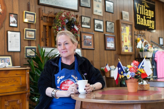 Town pride courses through Mimi Montgomery Irwin, owner of The Village Bakery.