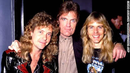 Scott Shannon, center, with Jack Blades, left, and Tommy Shaw in Los Angeles.