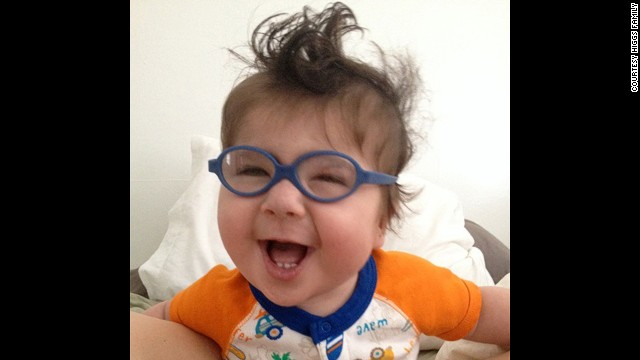 Maverick got glasses shortly before his first birthday on September 29.