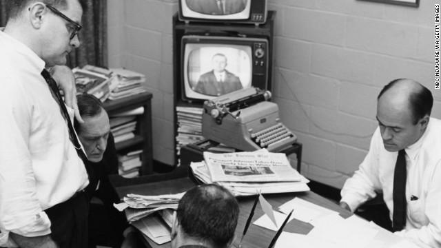The NBC News Bureau covers the assassination of Kennedy.