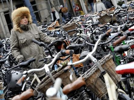 City of cyclists. Copenhagen, Denmark