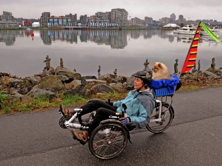 Recumbent cycling in Vancouver, Canada