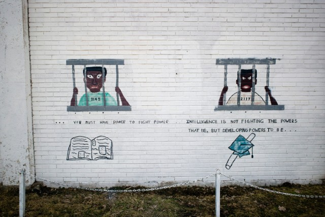 A mural at Lower North Center in Chicago, near the Cabrini row houses. - (Carlos Javier Ortiz for CNN)