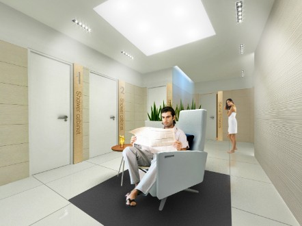 The airline has added new shower suites, too. Courtesy Finnair.