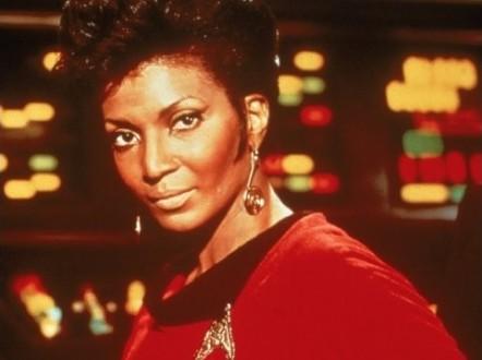 Nichelle Nichols as Lt. Uhura in Star Trek