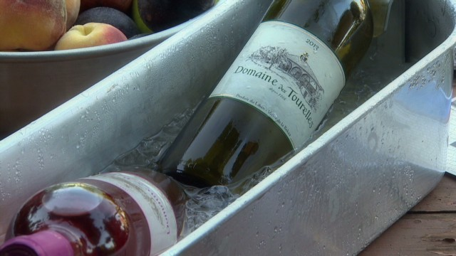 The produce of Domaine Des Tourelles (Courtesy CNN)