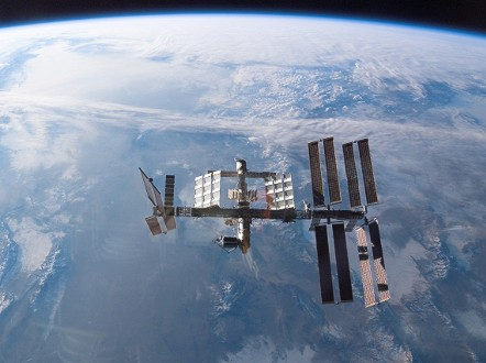 The microgravity environment on board the International Space Station (ISS) is useful to explore the inner workings of infectious bacteria. - (NASA)