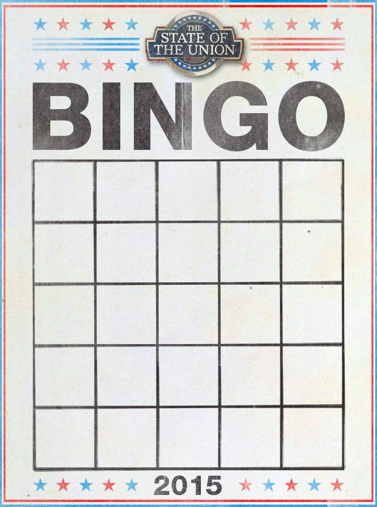 SOTU bingo card