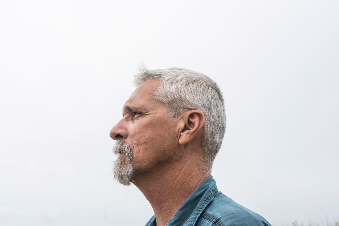 "Max Pons, a biologist and manager of the Nature Conservancy in Brownsville. The land is bisected by miles of border fence, which is broken up by gates and small ""cat holes"" meant to allow for native species to follow their normal migratory patterns. Many have seen their natural movements disrupted."