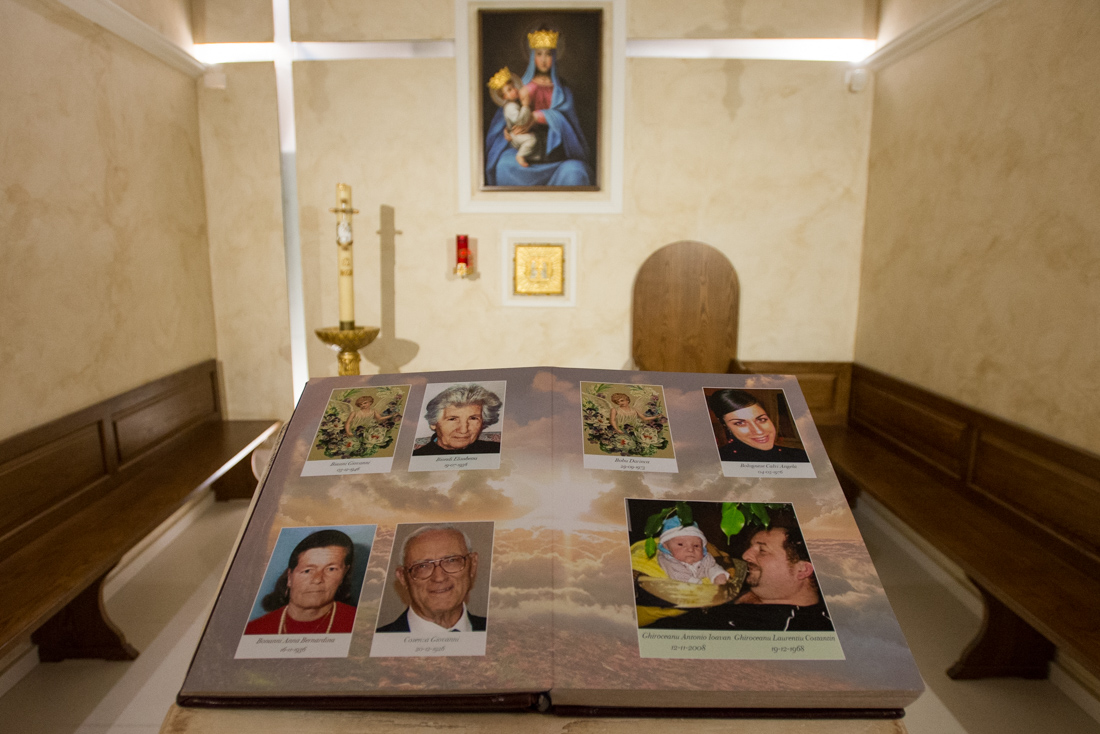A memorial book for the 309 victims of the 2009 earthquake.