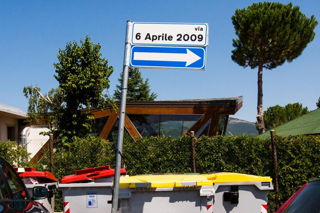 A back street in Friuli Venezia Giulia is named for the date of the L'Aquila earthquake.