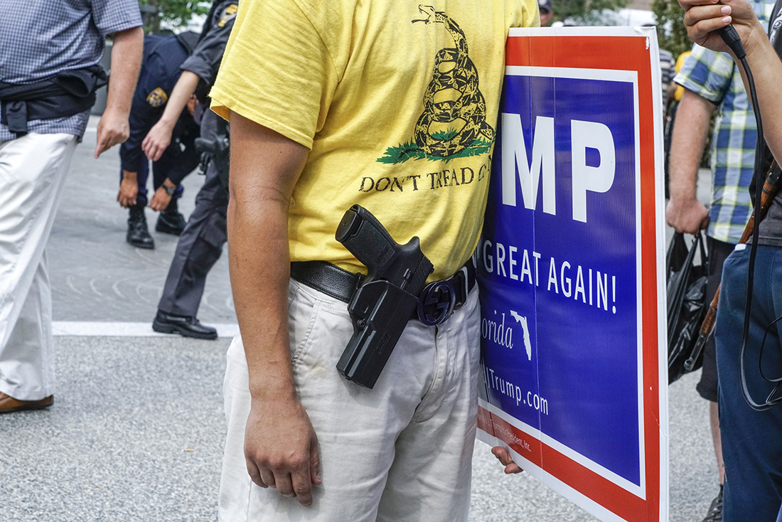 A Second Amendment advocate at the Republican convention.