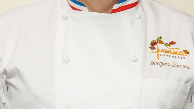 Jacques Torres's custom chef's jacket