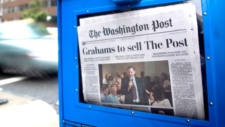 Jeff Bezos announces intention to buy The Washington Post