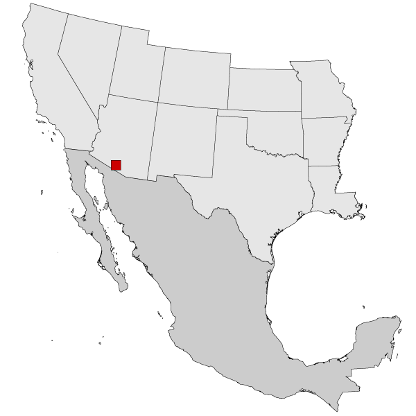 Map Of Arizona Border.Map Of Arizona Border