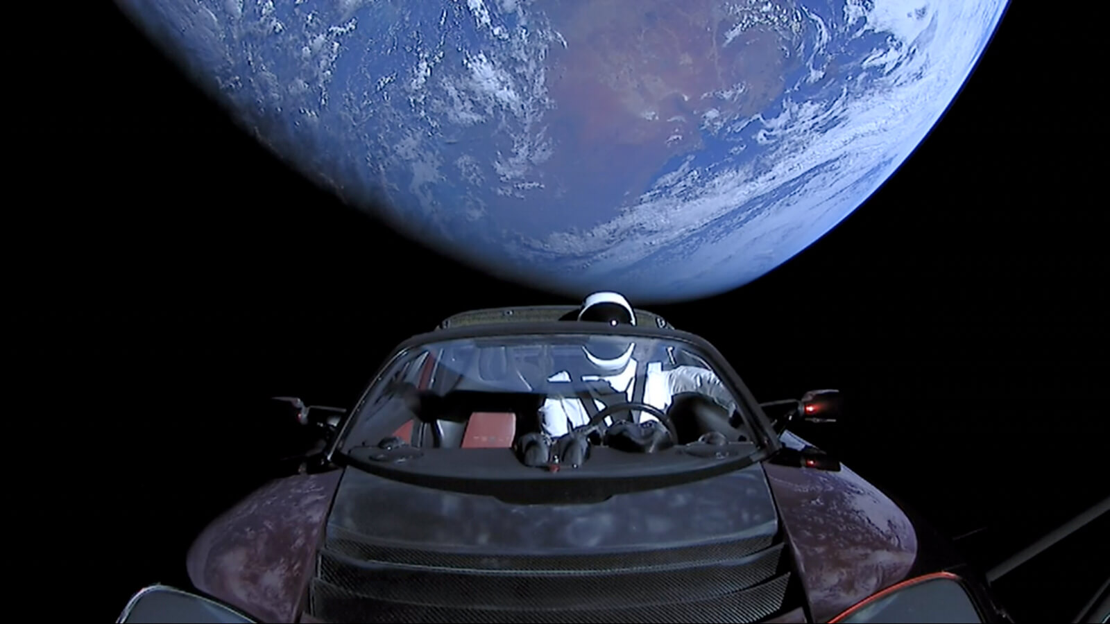 Tesla goes to space