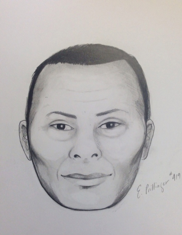 The composite sketch of the suspect