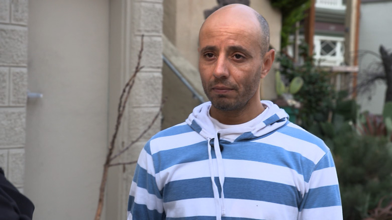 "Oueslati lives with the long-term effects of being shot near his San Francisco flat in 2014. ""It seems like there is this big block in my life,"" he said."