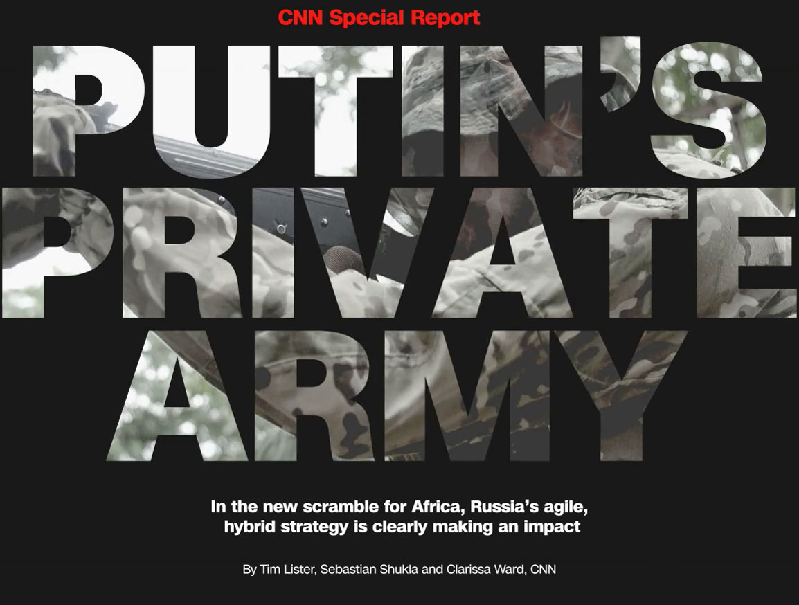 Putin's private army is trying to increase Russia's influence in Africa