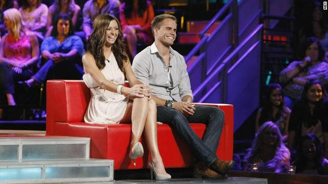 "Holly Durst and Michael Stagliano beat out the remaining three couples to win ""Bachelor Pad."""