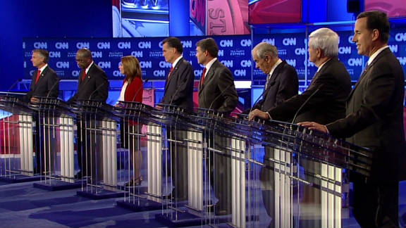 Republican candidates clashed over many issues at Monday