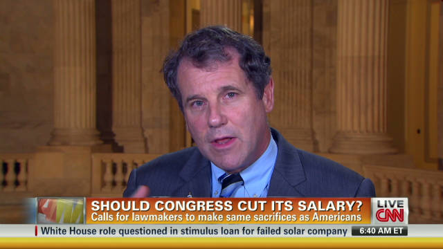 am congress salary cut brown_00015127