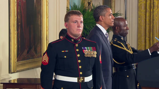 Marine receives highest military honor