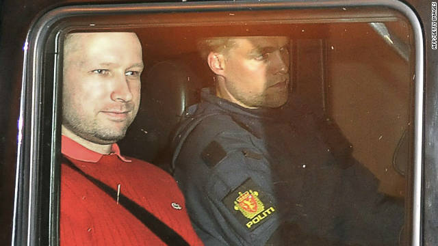 The trial of Anders Breivik (left) is expected to talk place in the first half of 2012.