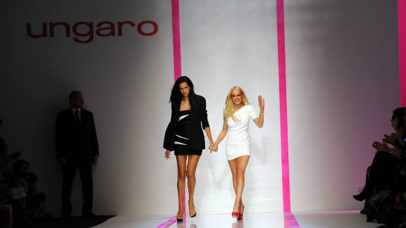 "In 2009 Lindsay Lohan teamed-up with French fashion house Emanuel Ungaro to launch ""6126,"" a line apparently inspired by Marilyn Monroe."