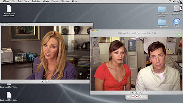 """Some of our biggest fans are from the psychological community,"" says Lisa Kudrow, left, star of ""Web Therapy."""