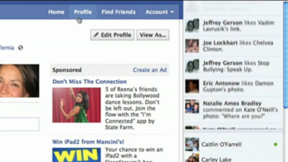 The Ticker, a fast-scrolling rail full of friends' activity, was one of the big Facebook changes rolled out Wednesday.